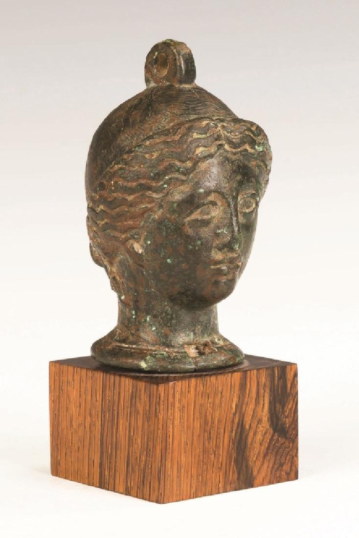 Cast Bronze Roman Head of a Lady