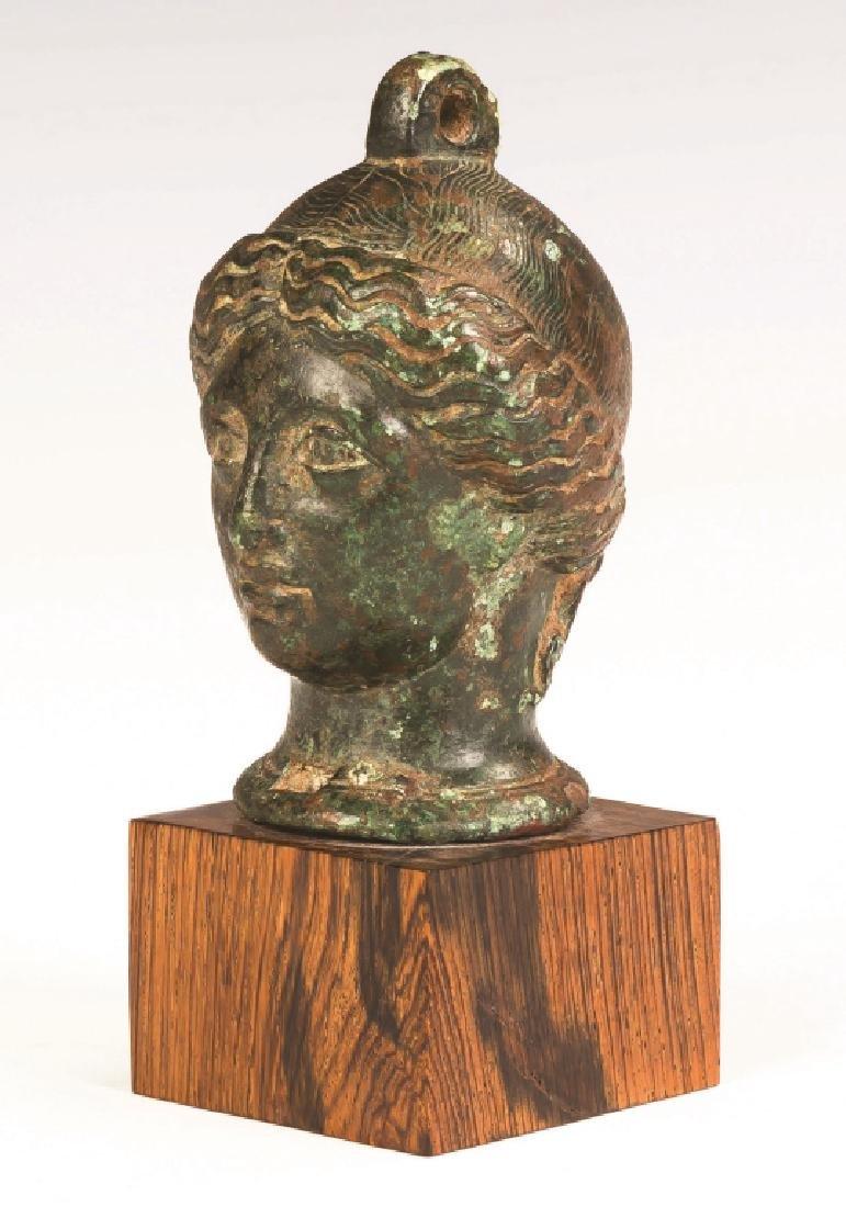 Cast Bronze Roman Head of a Lady - 2