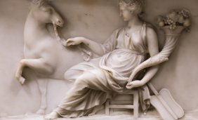 Neo-Classical Carved Marble Mantle