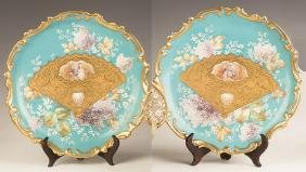 Two Limoges Wall Plaques