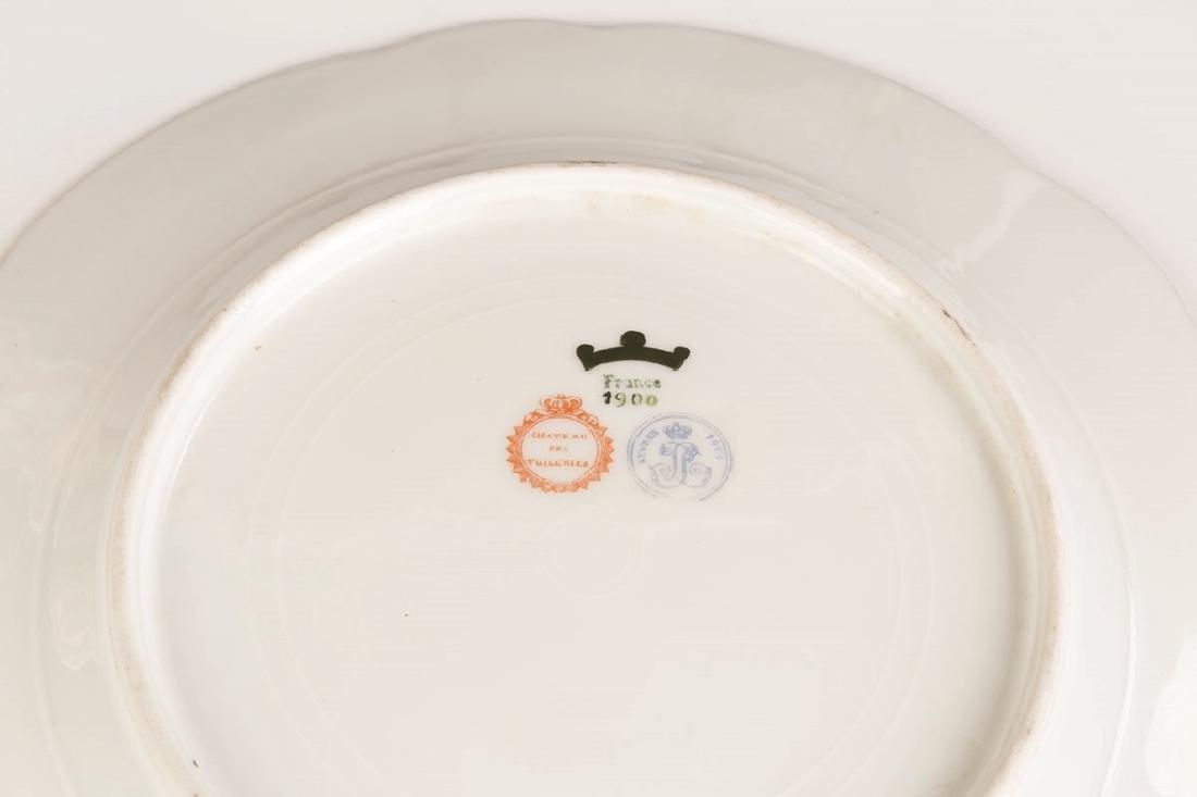Sevres Porcelain Plates with Art Nouveau Hand Painted - 3