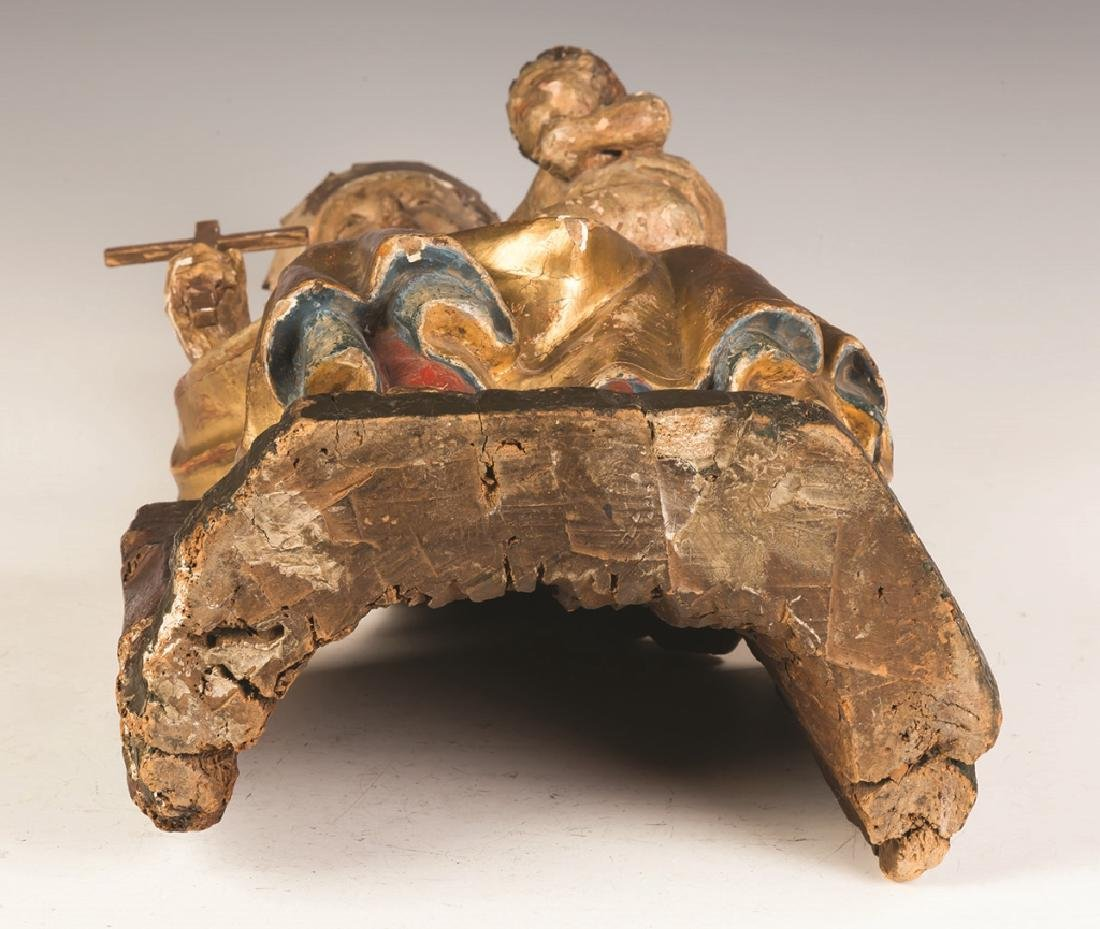 Early Italian Carved and Painted Madonna and  Child - 3