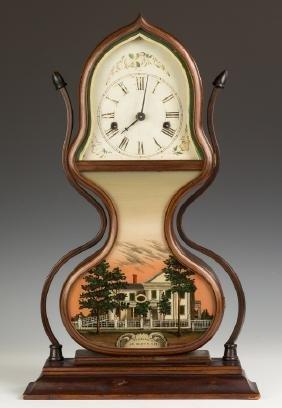 Fine J.C. Brown Acorn Shelf Clock, Bristol, CT