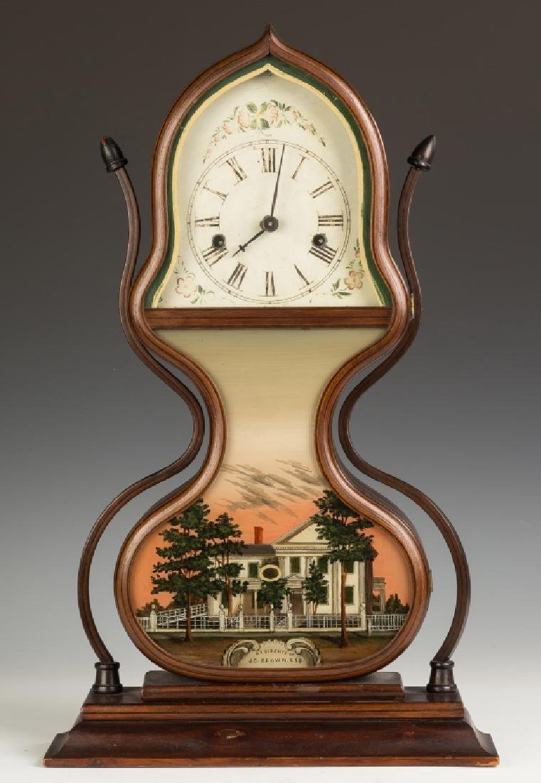 Fine J.C. Brown Acorn Shelf Clock, Bristol, CT