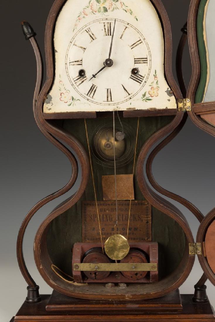 Fine J.C. Brown Acorn Shelf Clock, Bristol, CT - 3