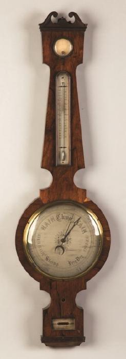 English Rosewood Banjo Barometer