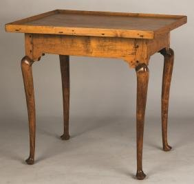 Queen Anne Curly Maple Tea Table