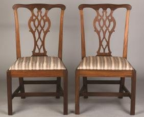 American Chippendale Mahogany Chairs
