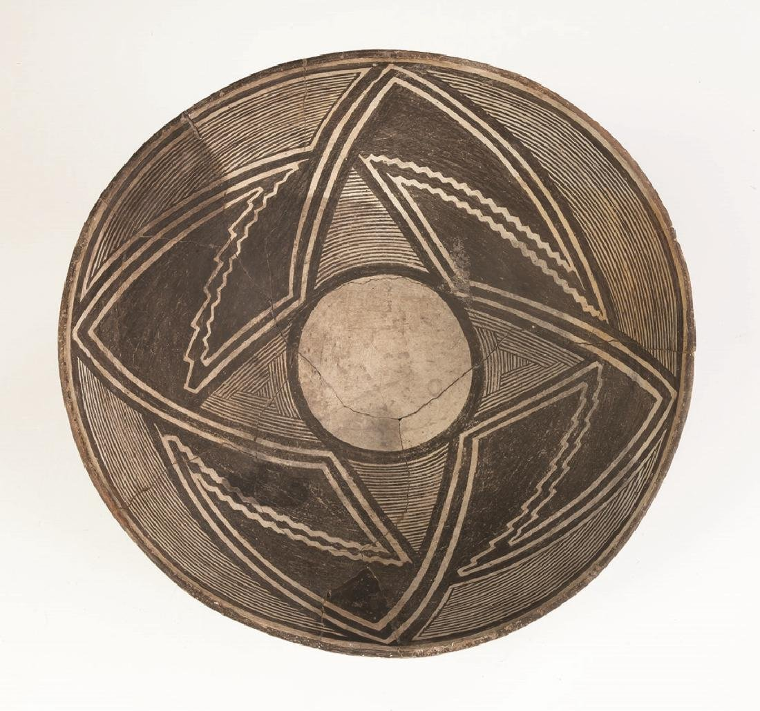 Early Mimbres Fine Line Geometric Bowl - 2