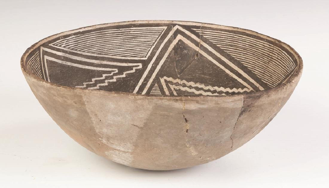 Early Mimbres Fine Line Geometric Bowl - 3