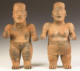 Pair of Early Jalisco Guardian Figures