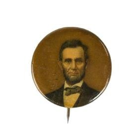 Vintage Abraham Lincoln Button