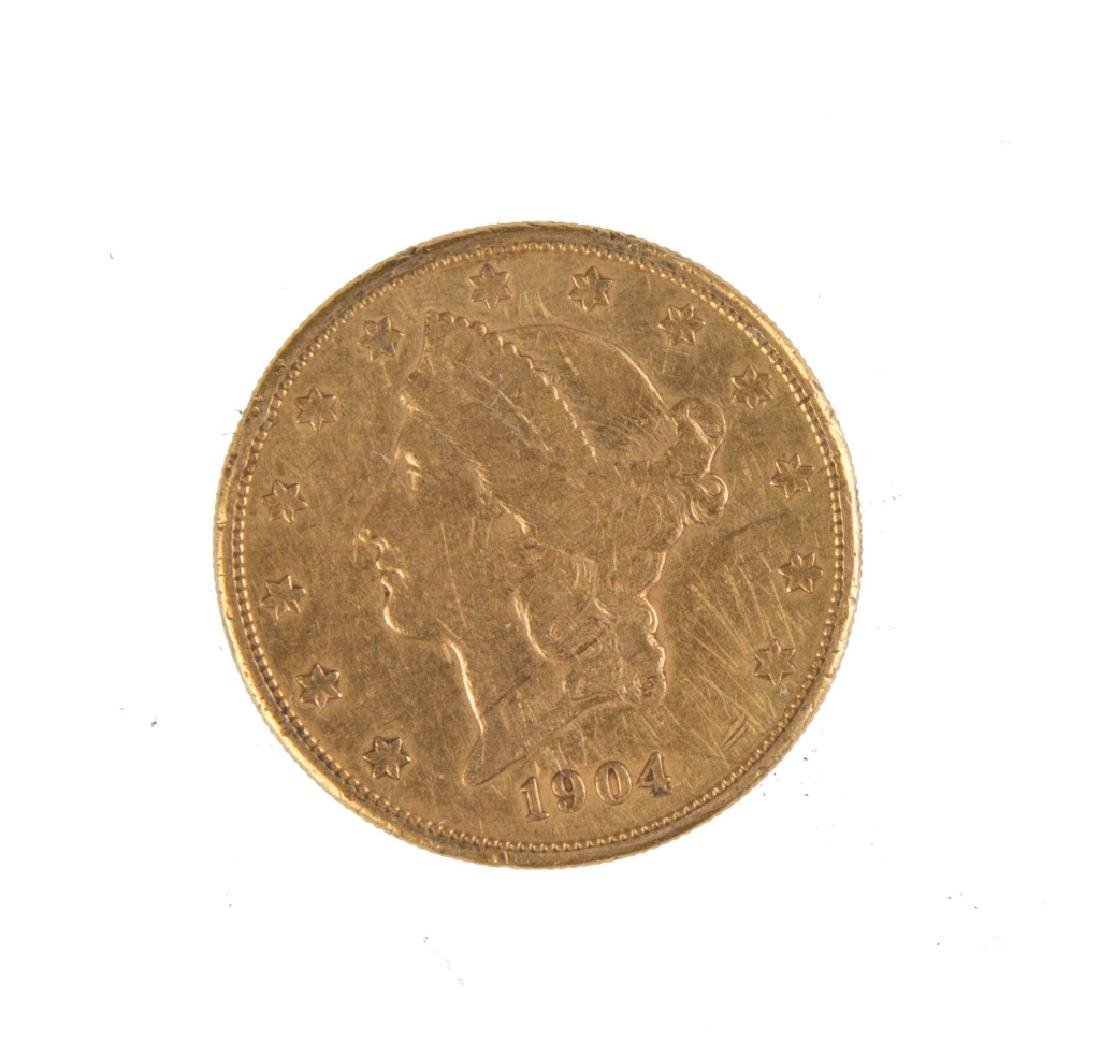 1904 Twenty Dollar Liberty Head Gold Coin