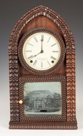 J. C. Brown Ripple Front Beehive Shelf Clock