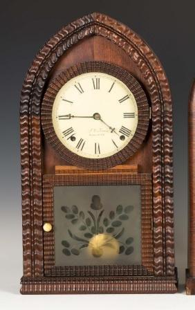J.C. Brown Ripple Front Beehive Shelf Clock