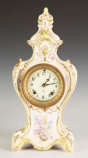 Ansonia Royal Bonn China Shelf Clock