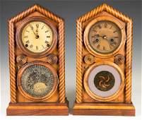 Two E. Ingraham & Co. Doric Model Shelf Clocks