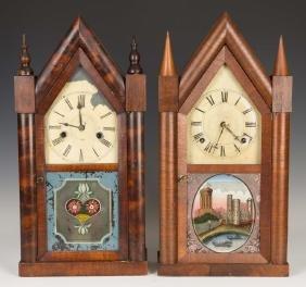 Two Steeple Shelf Clocks