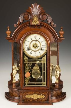 New Haven Side Mirror Victorian Shelf Clock