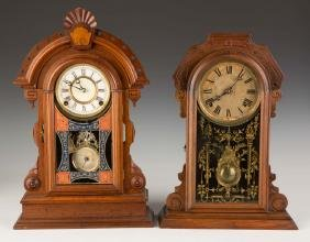 Two Victorian Shelf Clocks