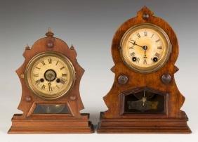 Two Kroeber Shelf Clocks