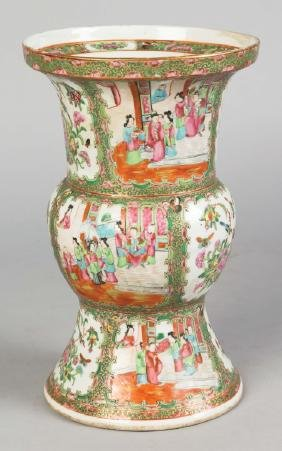 Chinese Rose Medallion Vase