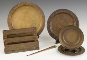 Tiffany Studios Bronze Desk and Table Articles