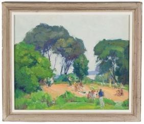 George Renouard (American, 1884–1954) Beach Scene