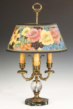 Fine Pairpoint Reverse Painted Table Lamp