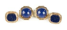 Vintage 14K Gold and Lapis Earrings and Rings