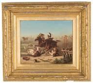 Adolf Northen German 18281876 Battle Scene