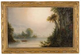 19th Century Painting of a Tropical Sunset