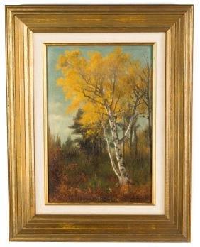 Benjamin Champney, River Birches in Autumn