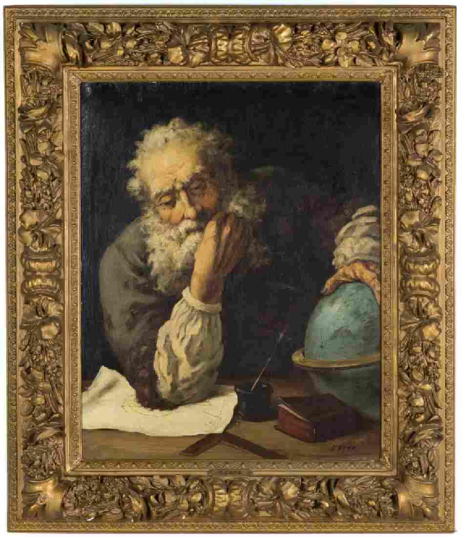 G. Funk (19th century) Portrait of Galileo Galilei