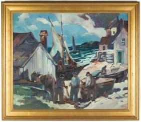 George Pearse Ennis (American, 1884–1936) Fishing