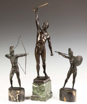 Three Bronze Sculptures