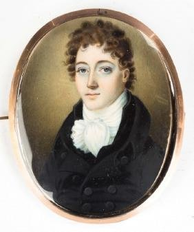 Miniature Painted Portrait of a Gentleman