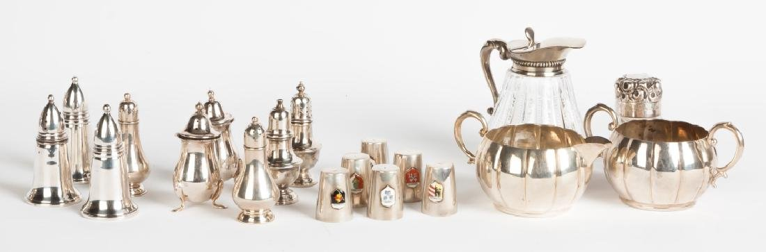 Various Sterling Silver and 800 Silver Table Articles