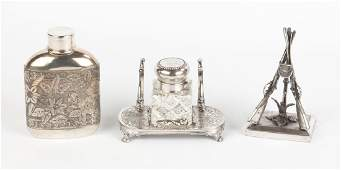 3 Silver Plate Items