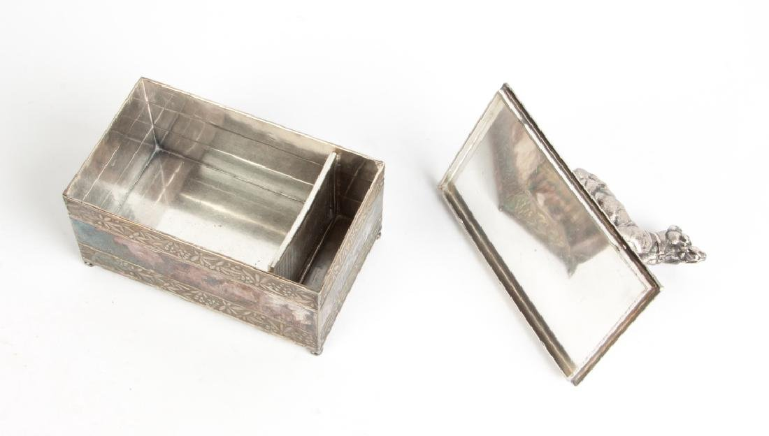 Meriden Silver Plate Box with Dog - 2