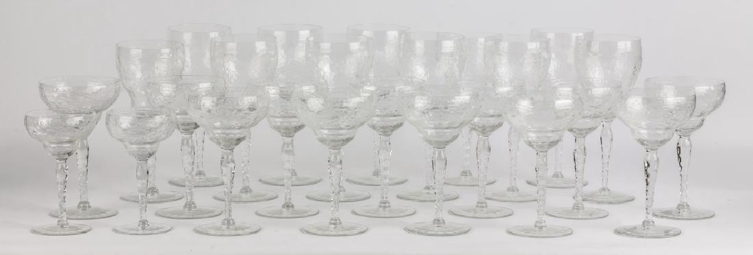 Engraved Glass Stemware