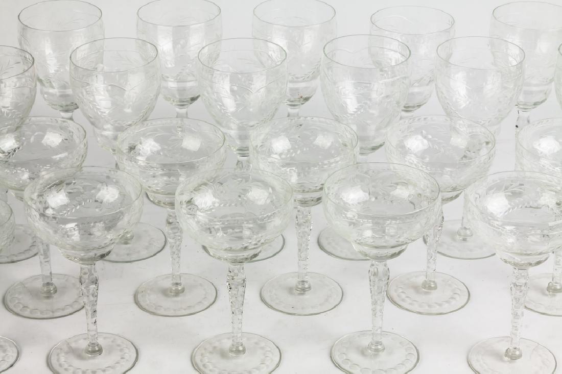 Engraved Glass Stemware - 2