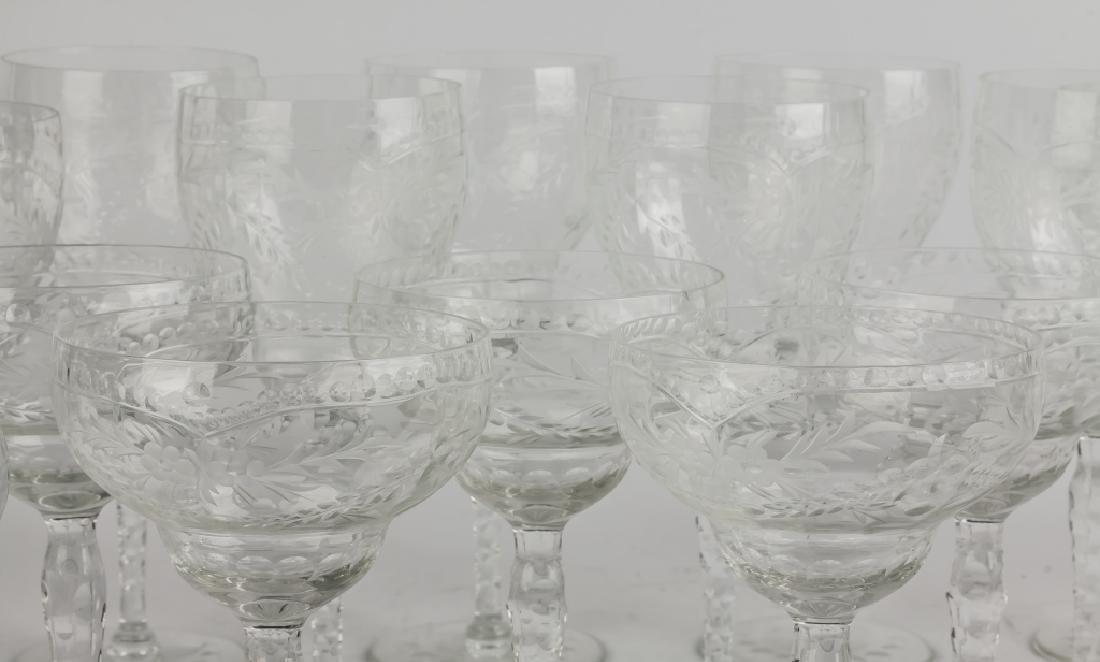 Engraved Glass Stemware - 3