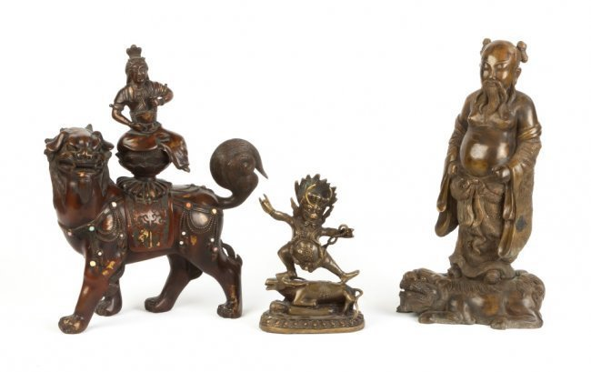 Three Asian Bronze Sculptures