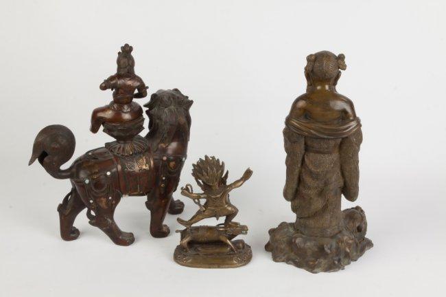 Three Asian Bronze Sculptures - 2