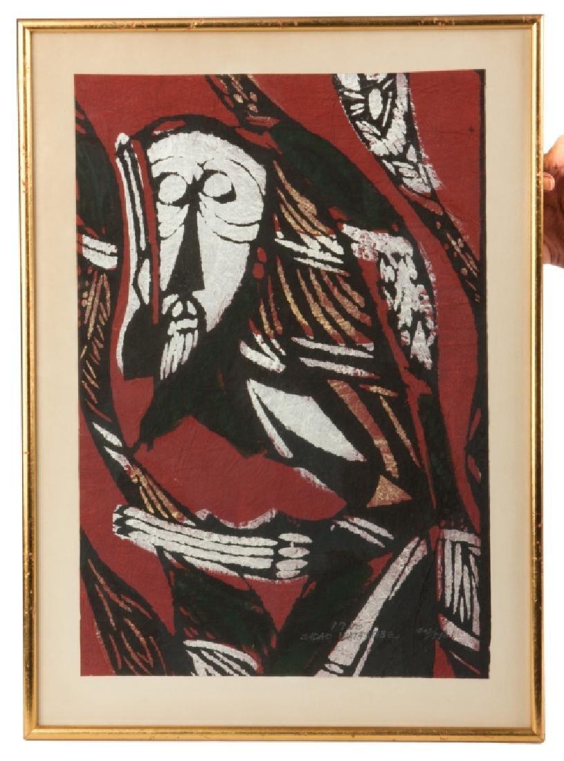 Three Japanese Woodblock Prints - 2