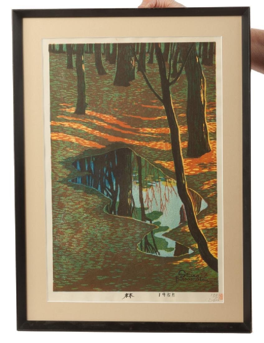 Two Kiyoshi Saito & One Shiro Kasamatsu Woodblock Print - 3