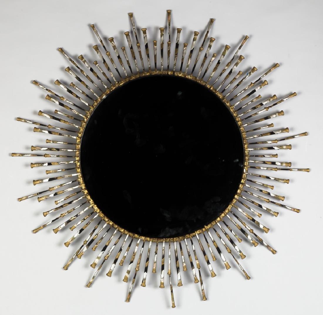 Curtis Jere Brutalist Style Iron Mirror
