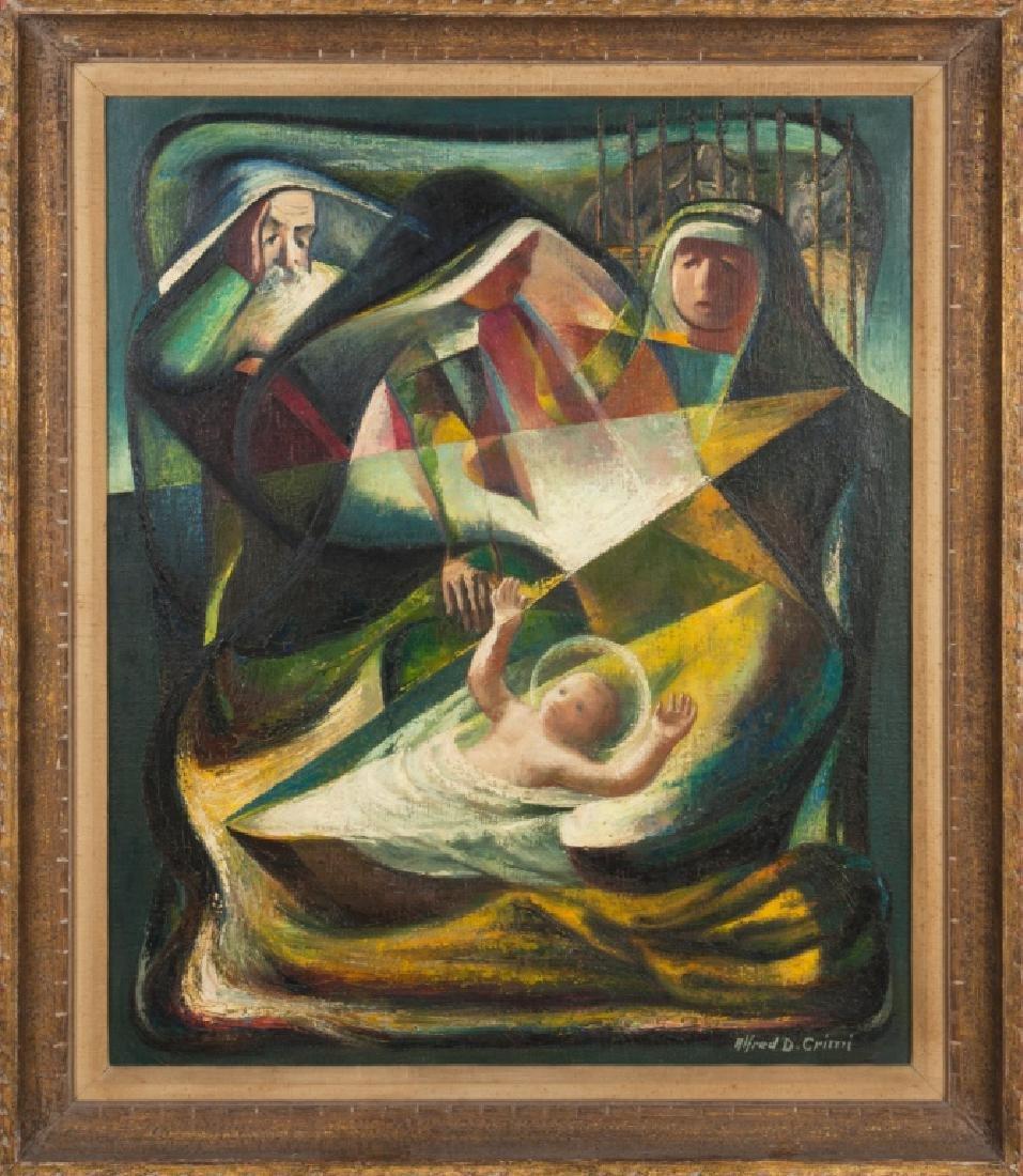 """Alfred D. Crimi (American, 1900-1994) """"Nativity"""""""