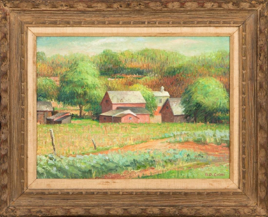 "Alfred D. Crimi (American, 1900-1994) ""Jersey Barns"""